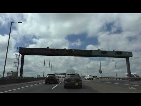Driving On The M6 Motorway From Junction 6 Great Barr To A38M, Birmingham, West Midlands, England