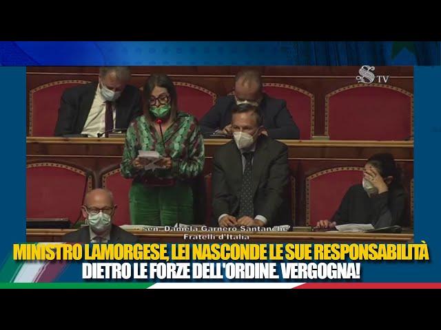 La Sen. Santanchè in replica all'informativa del Ministro dell'interno sui fatti  di Roma
