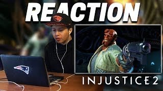 Injustice 2: Introducing Hellboy Gameplay Trailer REACTION! - Special Moves, Combos, Intro & Outro