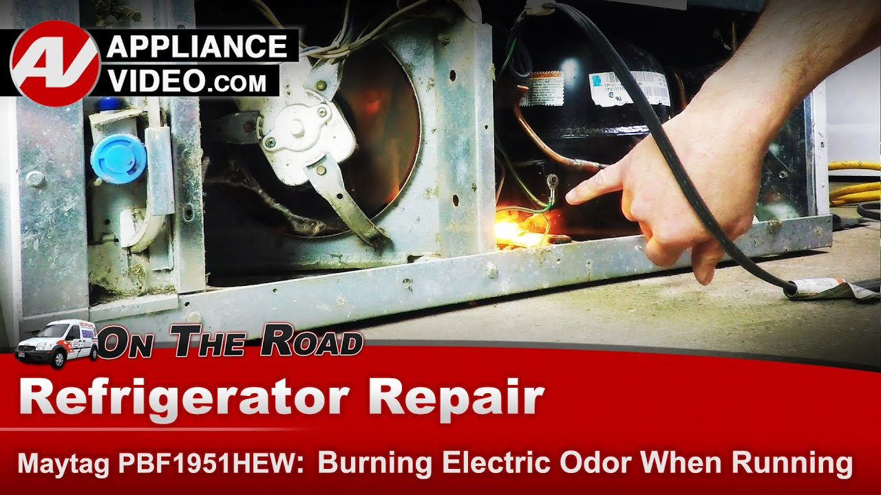 Refrigerator has burning smell & smoke - Diagnostic & Repair -Maytag,  Whirlpool, Roper