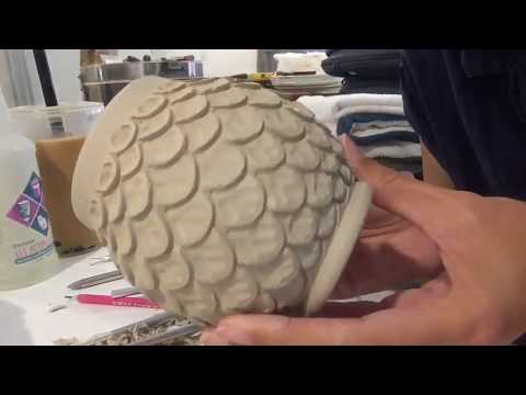 Carving Pottery | Mermaid Scale Flower Petal Cup