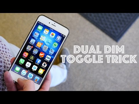 iPhone Brightness Button Toggle Hack