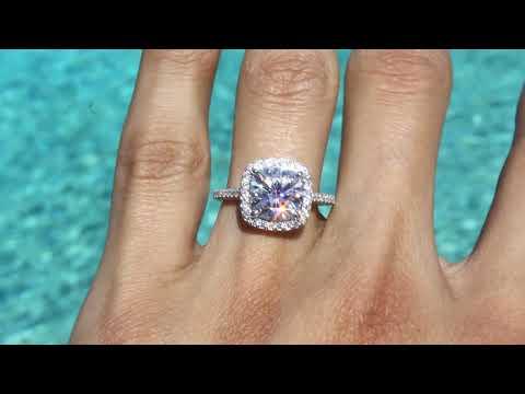 3-carat-cushion-moissanite-&-diamond-double-edge-halo-three-row-pave-ring