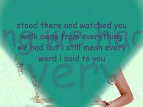 Taylor Swift-Haunted with lyrics