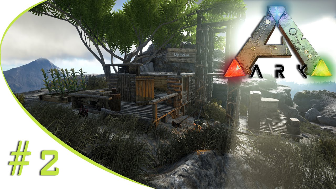 Lets Play Ark Survival Evolved 2 Wir Bauen Ein Haus German
