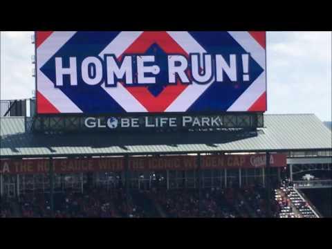 Fielder's Solo Home Run Globe Life Park in Arlington Rangers Game 5-29-2016