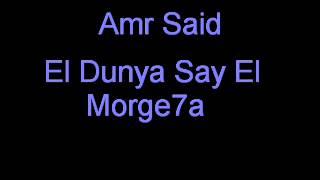 Amr Said - El Donia Zai el Morgeha // عمر السعد - الدنيا زى المرجيحه