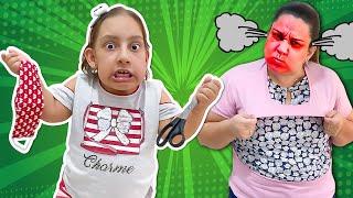 Maria Clara costura MÁSCARA ANTIVÍRUS uma história para crianças - MC Divertida