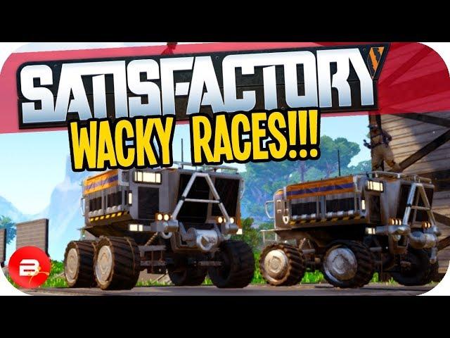 WACKY Racetrack Tractor RACING in Satisfactory! (Satisfactory Gameplay)