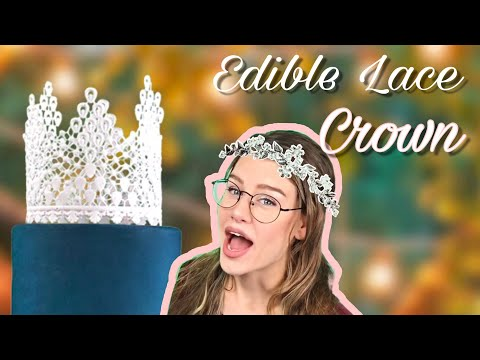Edible Lace Crown for Cake Decorating