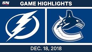 NHL Highlights   Lightning vs. Canucks - Dec 18, 2018