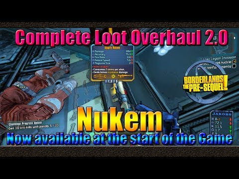 Borderlands The Pre Sequel | Nukem Now Available at the Start of the Game | CLO 2.0  Patch