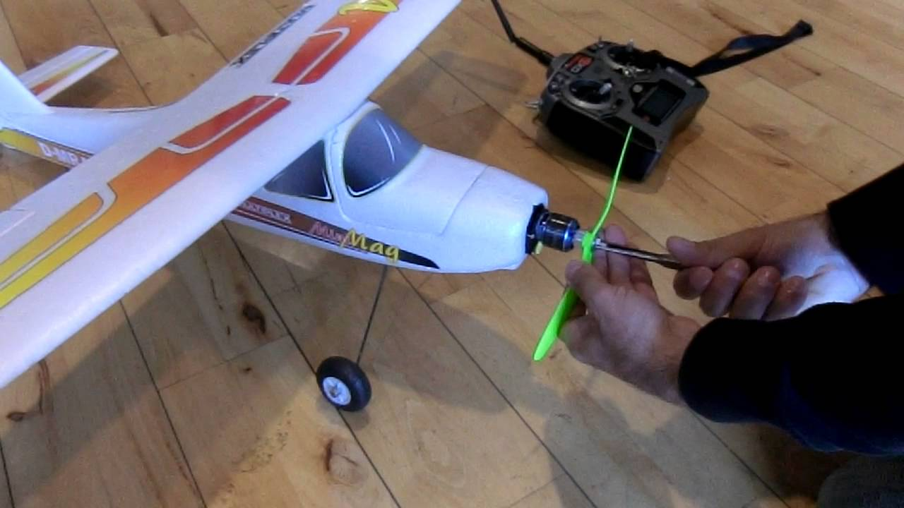 Testing A 3d Printed Propeller On An Rc Airplane Youtube