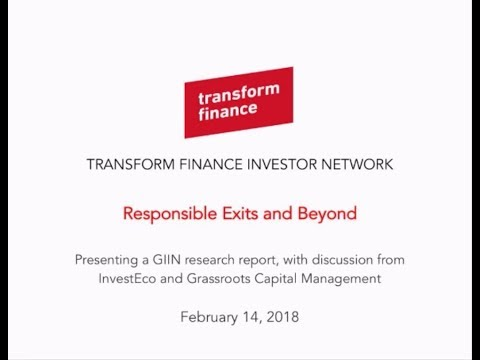 TFIN Webinar: Responsible Exits and Beyond