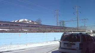 Pennsylvanian train along Railroad Avenue