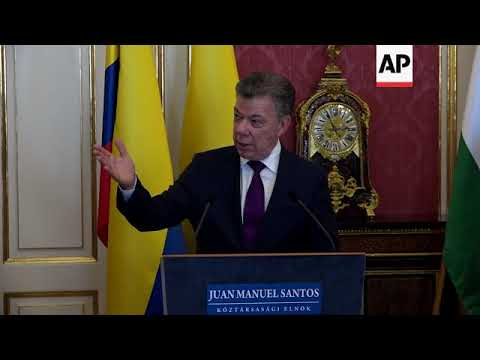 Colombia's Santos meets Hungary's Ader for talks