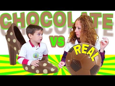 RETO CHOCOLATE TASTE VS REAL challenge con JUEGOS Y JUGUETES DE ARES