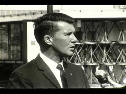 F 1967 Astronaut Wally Schirra Candids and interview