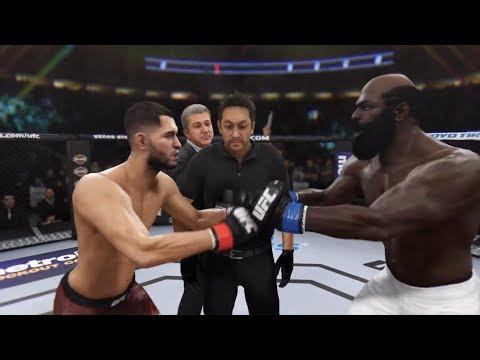 Jorge Masvidal Vs. Kimbo Slice (EA Sports UFC 3) - Crazy UFC 👊🤪