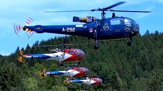 GIGANTIC RC FLIGHT SHOW 4X LARGEST XXL SCALE MODEL SA-319 ALOUETTE III TURBINE HELICOPTER FLYING