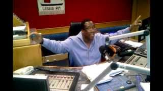 Thuso Motaung presenting in studio