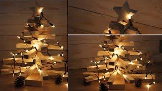 How make a wooden Christmas tree / Jak wykona drewnian choink