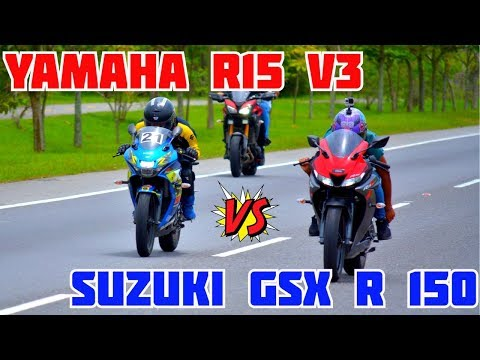 YAMAHA R15 V3 Vs SUZUKI GSX R 150 | EPIC DRAG RACE | PIKE