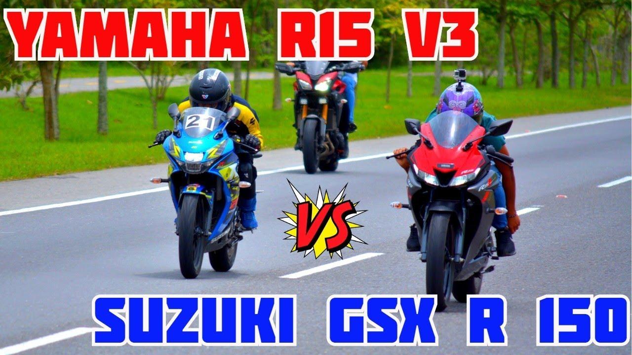 YAMAHA R15 V3 Vs SUZUKI GSX R 150 | EPIC DRAG RACE | PIKE ÉPICO EN IBAGUÉ  |🏍️🏍️🔥🔥🔥
