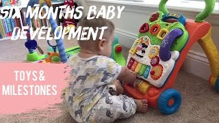 6 Months Baby Development, toys and starting solids