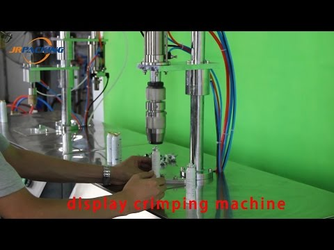 Semi Automatic Pharmaceutical Aerosol Filling Machine for Small Volume Pharmaceutical Spray Products