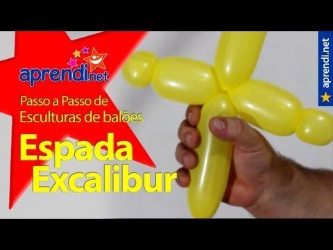 Como fazer uma espada de balões - Excalibur