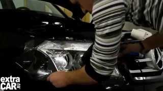 Защитная пленка на фары автомобиля.Обучение.(Антигравийная бронировка фар на автомобиле. Обучение защите фар от царапин. Центр новых технологий EXTRACAR.На..., 2012-10-16T13:44:04.000Z)