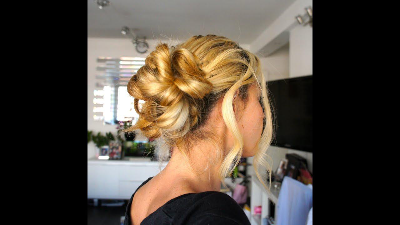 Chignon romantique facile cheveux mi long