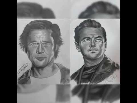 Drawing Leonardo DiCaprio & Brad Pitt