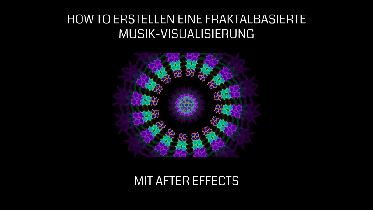 Musik Visualisierung After Effects Tutorial Erstellen Einer Fraktal Musik Visualisierung Mit Repeater Deutsch