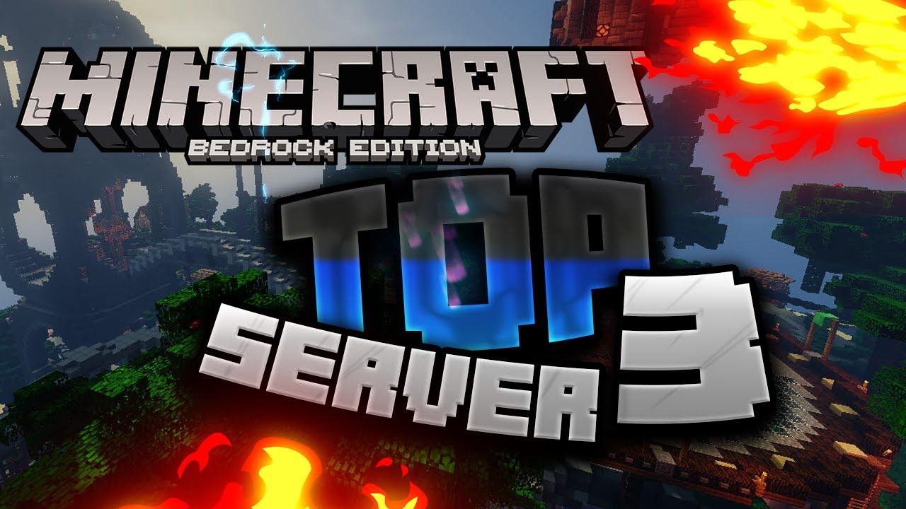 TOP 3 MINECRAFT PE PS4 BEDROCK SERVER Minigames PvP YouTube
