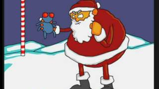 Joe Cartoon - Santa Fly