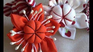 Flor em tecido com miolo acolchoado passo a passo