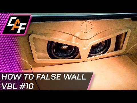 Building Car Audio False Wall - Subwoofer Box Trunk Build - CarAudioFabrication