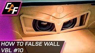A false wall car audio install will help make the build look much m...