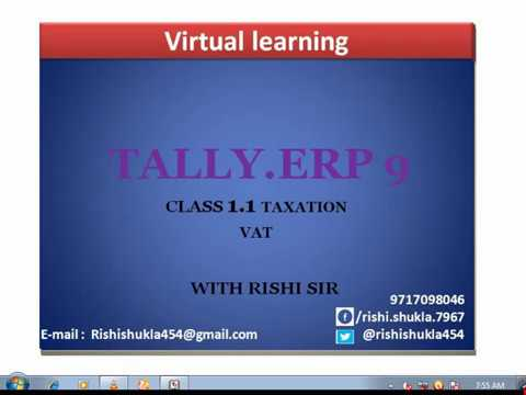 VAT ON RELEASE 5 LESSON - 1.1 IN HINDI