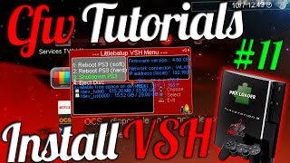 CFW Tutorials #11 - Install VSH Menu On PS3 ! ( Control Your PS3 In XMB ) [CEX/DEX]