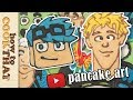 Top YouTubers Pancake Art  Jake Paul, Guava Juice (ft draw with jazza)