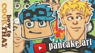 10 top YouTubers (Logan Paul, DanTDM) PANCAKE ART, How To Cook That Ann Reardon