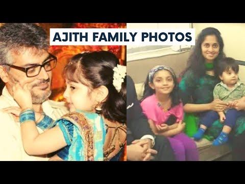 Actor Ajith Family Photos With Wife Shalini, Daughter Anoushka And Son Aadvik Latest