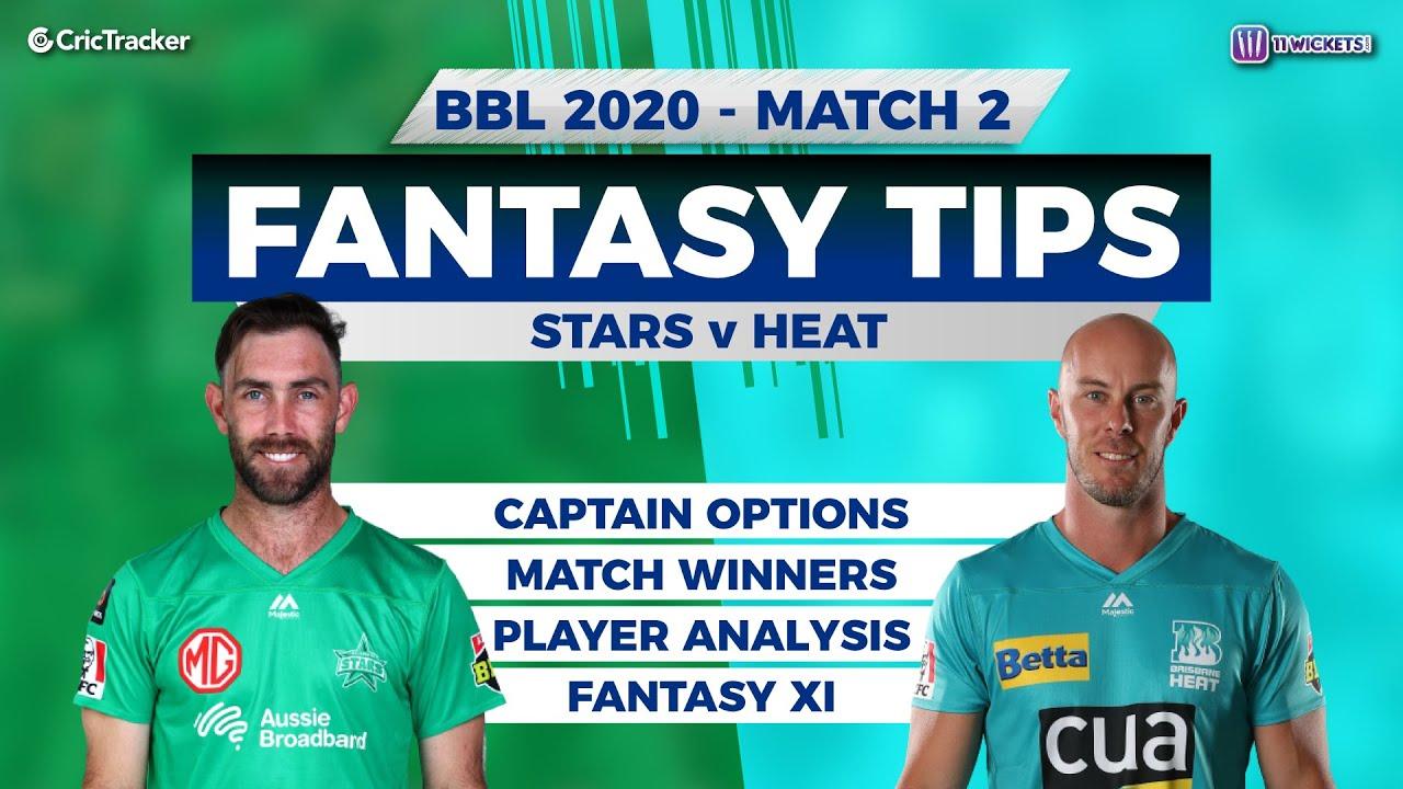 Bbl 2nd Match 11wickets Team Melbourne Stars Vs Brisbane Heat Full Team Analysis Youtube