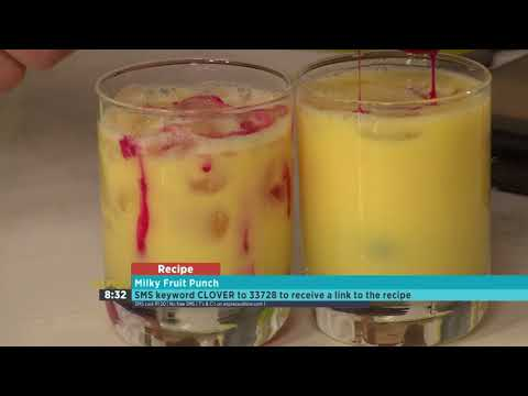 Holiday Party Punch: Clover Fresh Milk Fruit Punch