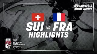 Game Highlights: Switzerland vs France May 15 2018 | #IIHFWorlds 2018
