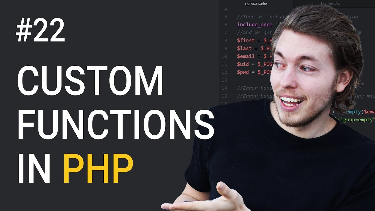 22: How to Create Your Own Function in PHP   PHP Tutorial   Learn PHP Programming   PHP Lesson