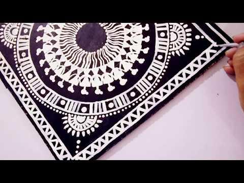 warli art   decorative wall painting  easy home decor ideas
